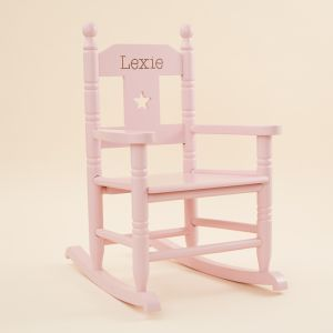 Personalised Pink Star Children's Rocking Chair