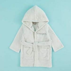 Personalised Hooded Fleece Robe