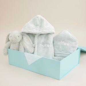 Personalised Mint Splash, Snuggle & Cuddle Gift Set