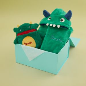 Personalised Little Monster Gift Set
