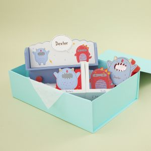 Personalized Little Monster Wooden Room Accessories Gift Set