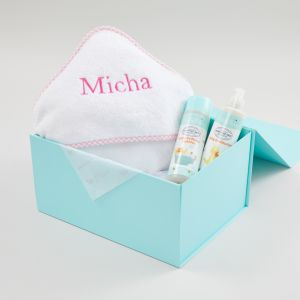 Personalised Pink Relaxing Bath Time Baby Gift Set