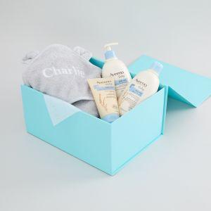 Personalised Grey Large Toddler Bathtime Gift Set
