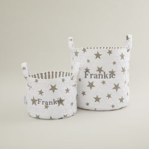 Personalised White Star Storage Bag Gift Set