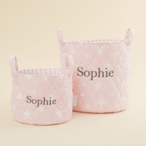 Personalized Pink Star Storage Bag Gift Set