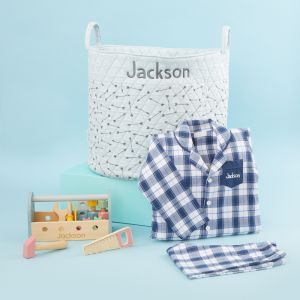 Personalised Blue Playtime & Pyjamas Gift Set