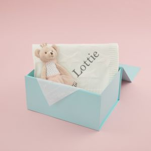 Personalised Blanket and Soft Bear Doll Gift Set