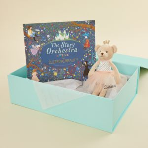 Personalised Sleeping Beauty Musical Story Book and Ballerina Gift Set