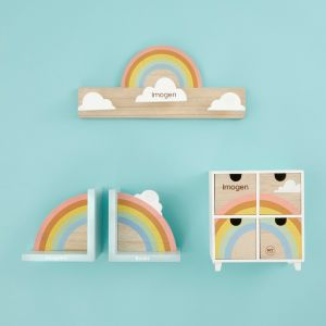 Personalised Rainbow Room Accessories Gift Set