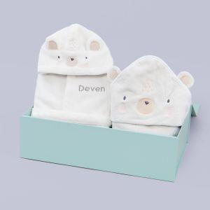 Personalised Polar Bear Splash & Snuggle Gift Set