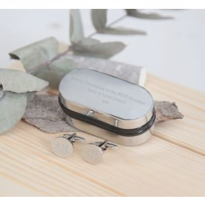 Personalized Oval Cufflinks & Box