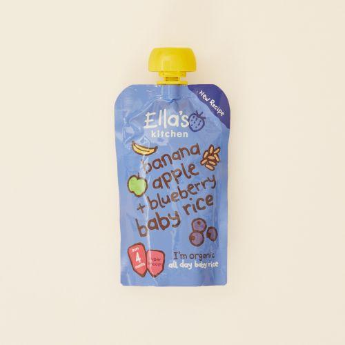 Ella's Kitchen Organic Bananas & Blueberries Baby Rice Pouch 120g (4m+)