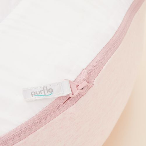 Personalised Purflo Pink Baby Bed Cover