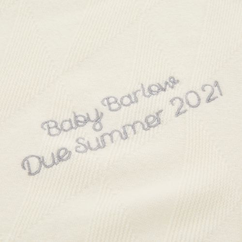 Personalised 100% Cashmere Ivory Baby Blanket