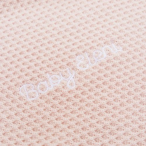 Personalised Pink Cashmere Blend Baby Blanket with Pom Poms