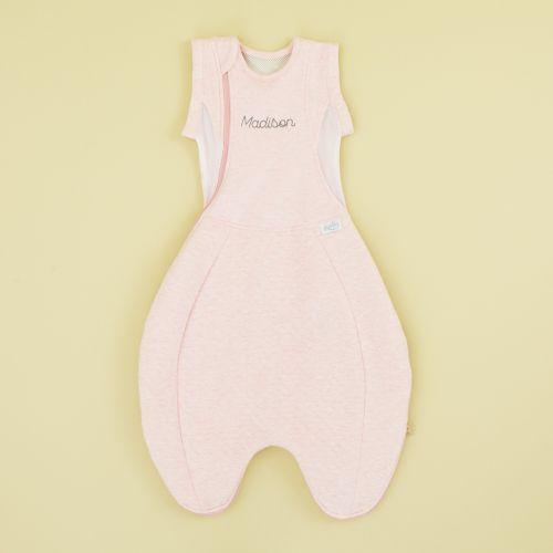 Personalised Purflo Pink Swaddle to Sleep Bag 2.5 Tog
