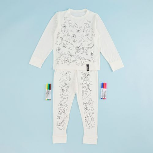 Dinosaur Design Colour Yourself Pyjama Set