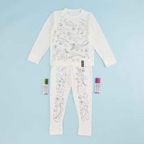 Dinosaur Design Colour Yourself Pyjama Set