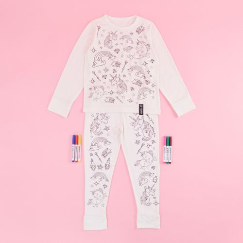 Unicorn Design Colour Yourself Pyjama Set