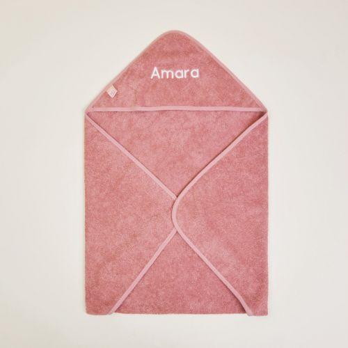 Personalised Dark Pink Hooded Towel
