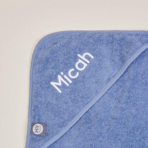Personalised Dark Blue Hooded Towel