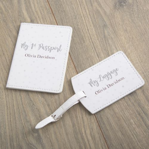 Personalized 1st Passport & Luggage Tag Set