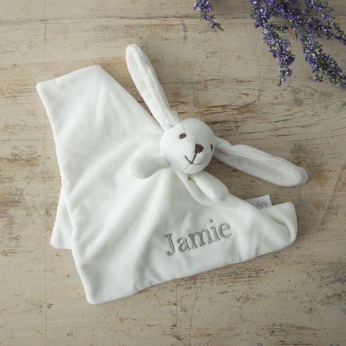 Personalized White Bunny Lovey