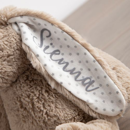 Personalized Taupe Bunny Stuffed Animal
