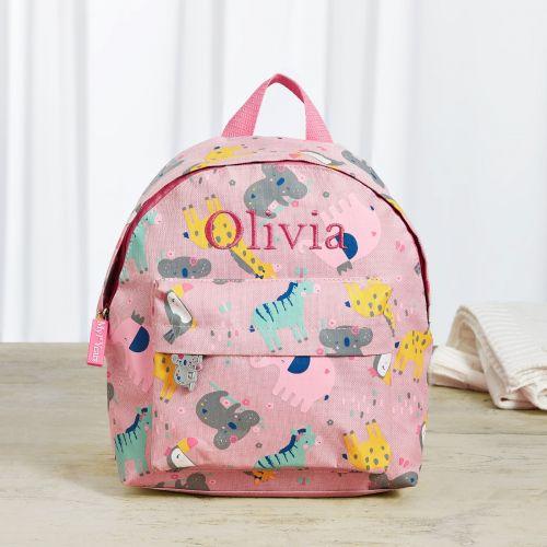 Personalized Koala & Friends Print Mini Backpack