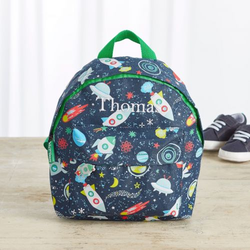 Personalized Space Print Mini Backpack