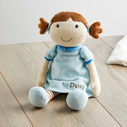 Personalized Rag Doll in Blue Dress