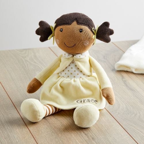 Personalized Rag Doll in Yellow Dress