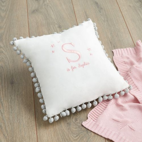 Personalised Pom Pom Cushion