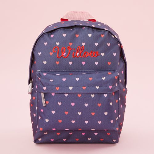 Personalised Heart Print Infant Backpack