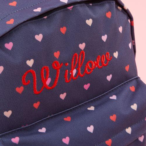 Personalised Heart Print Medium Backpack