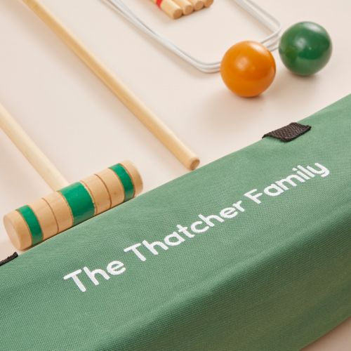 Personalised Junior Wooden Croquet Play Set