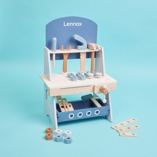 Personalised Wooden Tool Bench Play Set
