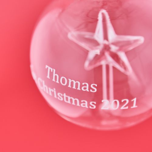 Personalised Glass Star Bauble