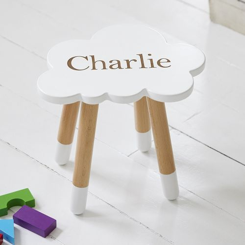 Personalised White Cloud Stool