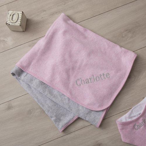 Personalised Pink Marl Blanket