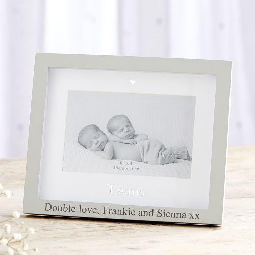 Personalized 'Twins' Picture Frame