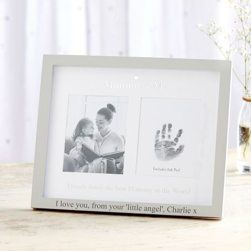 Personalized 'Mummy & Me' Photo and Ink Picture Frame
