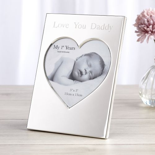 Personalised Silver Heart Photo Frame