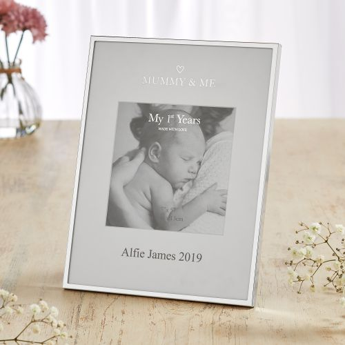 Personalized Sliver-Plated Mummy & Me Picture Frame