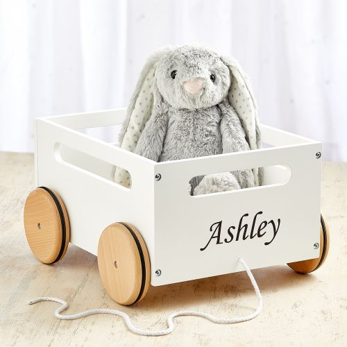 Personalised White Pull Along Storage