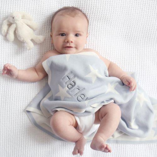 Personalised Blue Star Blanket Model