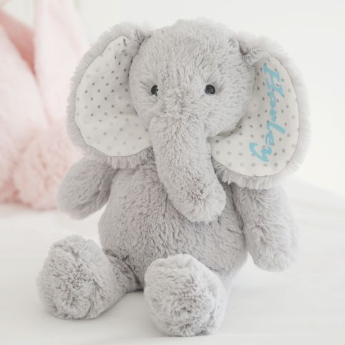 Personalised Grey Elephant Soft Toy