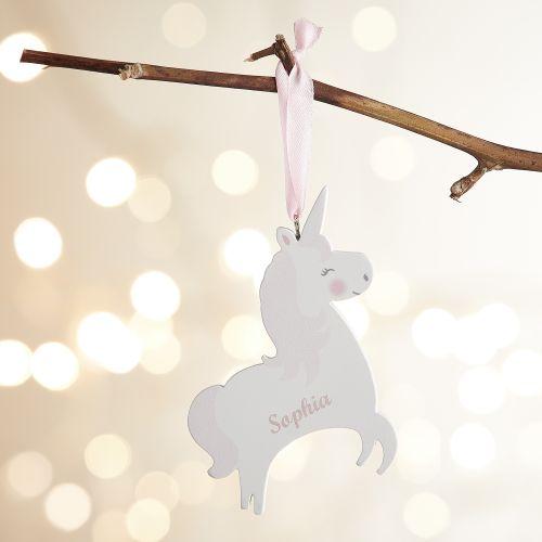 Personalized Wooden Unicorn Decoration