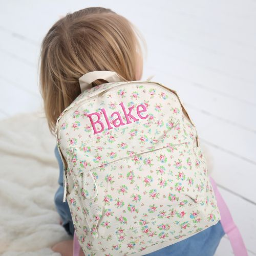 Personalized Ditsy Print Mini Backpack