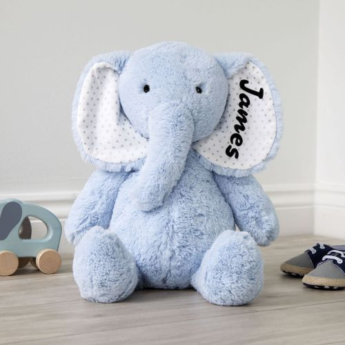 Personalized Large Blue Elephant Stuffed Animal